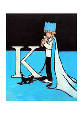Luke Martineau Alphabet Series 'K is for King' £50 at The Prints Gallery