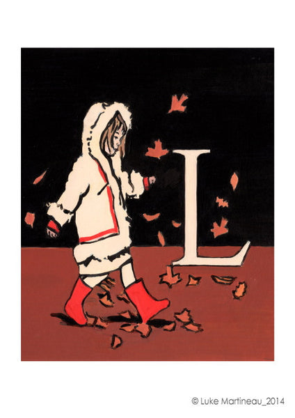 Luke Martineau Alphabet Series 'L is for Leaves' £50 at The Prints Gallery