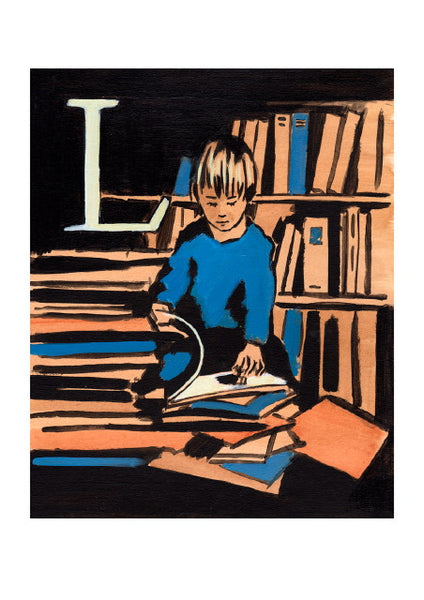 Luke Martineau Alphabet Series 'L is for Library' £50 at The Prints Gallery