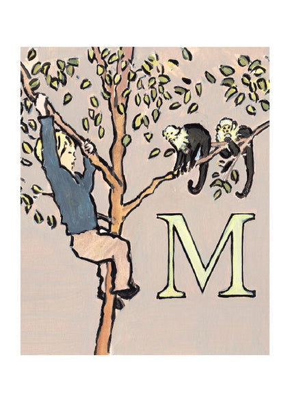 Luke Martineau Alphabet Series 'M is for Monkey' £50 at The Prints Gallery