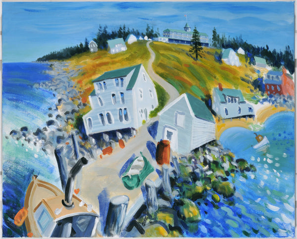 Monhegan Island, Maine.  Giclee print by artist Ian Weatherhead.  £150 at The Prints Gallery