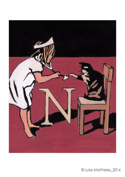 Luke Martineau Alphabet Series 'N is for Nurse' £50 at The Prints Gallery