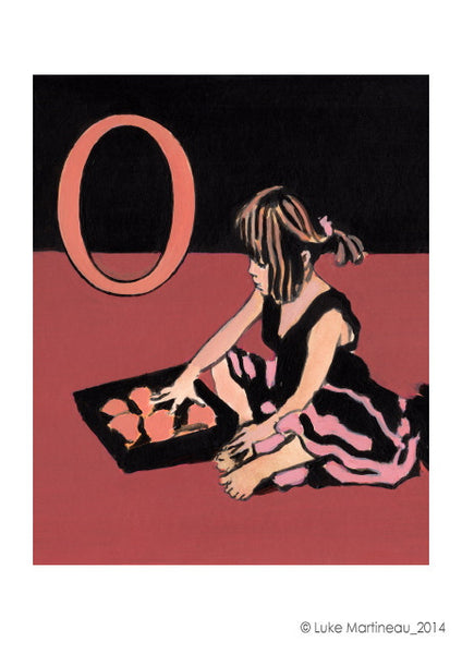 Luke Martineau Alphabet Series 'O is for Orange' £50 at The Prints Gallery