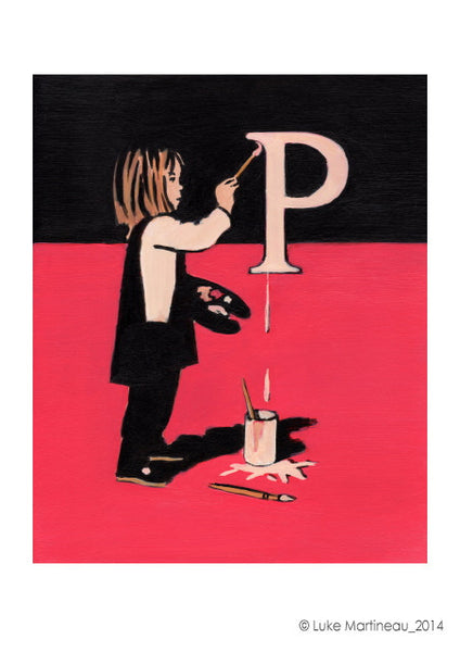 Luke Martineau Alphabet Series 'P is for Paint' £50 at The Prints Gallery