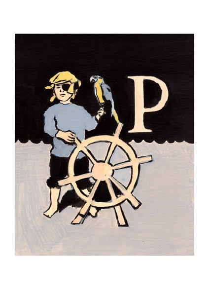 Luke Martineau Alphabet Series 'P is for Pirate' £50 at The Prints Gallery