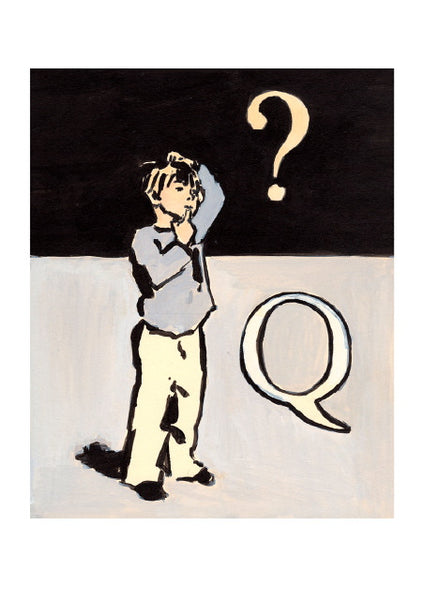 Luke Martineau Alphabet Series 'Q is for Question' £50 at The Prints Gallery