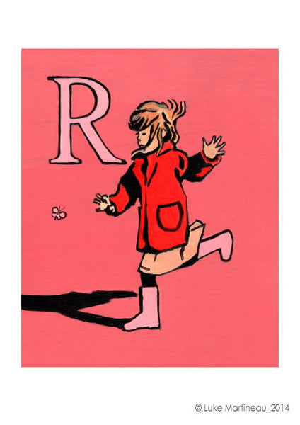 Luke Martineau Alphabet Series 'R is for Run' £50 at The Prints Gallery