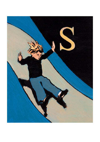 Luke Martineau Alphabet Series 'S is for Slide' £50 at The Prints Gallery