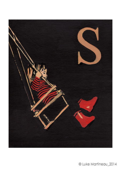 Luke Martineau Alphabet Series 'S is for Swing' £50 at The Prints Gallery