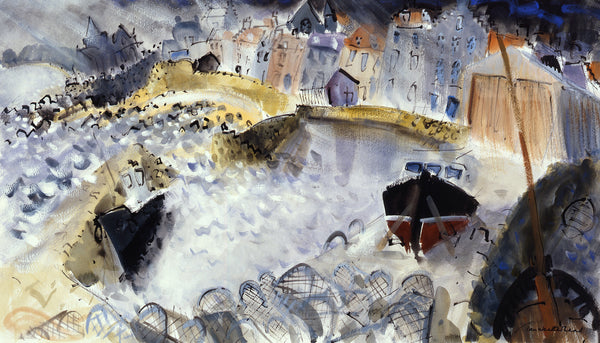 Stormy Harbour.  Giclee print by artist Ian Weatherhead.  £150 at The Prints Gallery