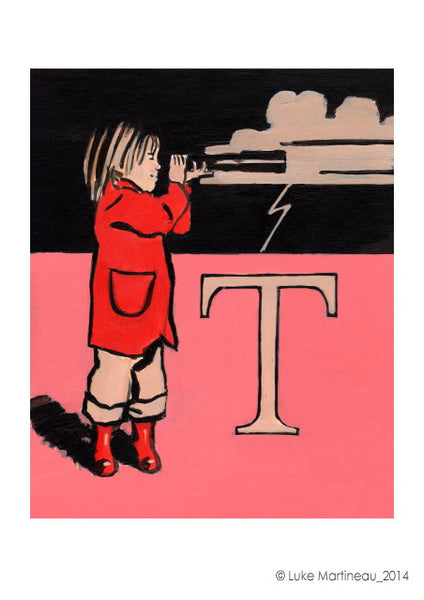 Luke Martineau Alphabet Series 'T is for Telescope' £50 at The Prints Gallery
