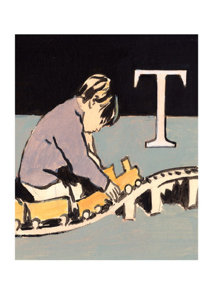 Luke Martineau Alphabet Series 'T is for Train' £50 at The Prints Gallery