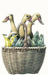 'Basket' Giclee Print by Simon Drew at The Prints Gallery