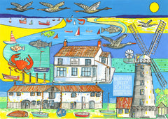 Burnham Overy Staithe print by Andrew Ruffhead.  £35 from The Prints Gallery.