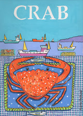 Crab print by Andrew Ruffhead.  £35 from The Prints Gallery.