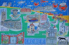 Cromer print by Andrew Ruffhead.  £35 from The Prints Gallery.