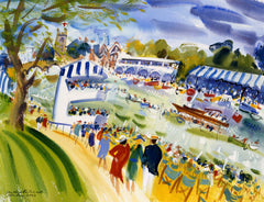 Henley Royal Regatta.  Giclee print by artist Ian Weatherhead.  £150 at The Prints Gallery