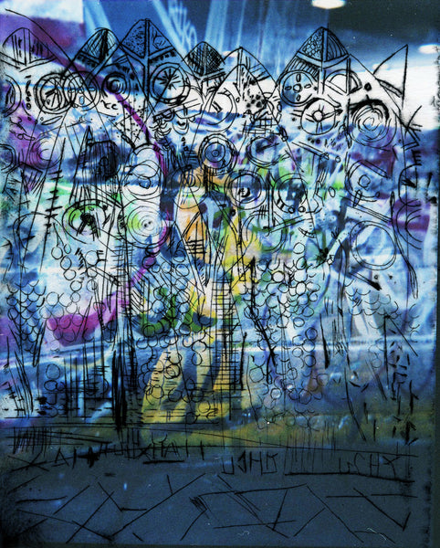 'Etchings with Graffiti' by Laetitia Corbett. 40x50cm photographic print on Hahnemuhle Photo Luster 260gsm paper. £60 from The Prints Gallery