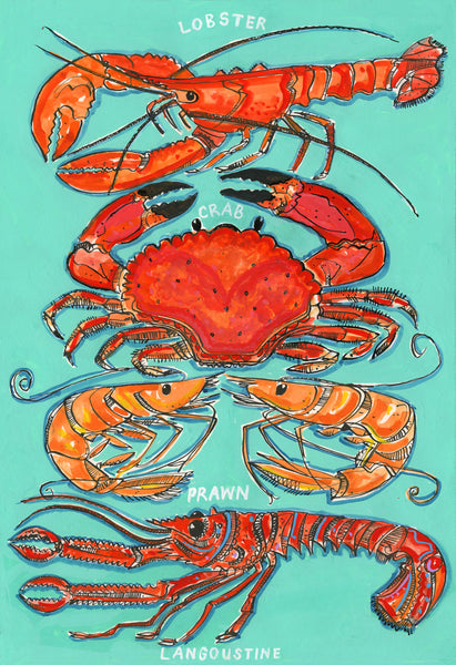 Shellfish print by Andrew Ruffhead at The Prints Gallery