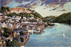 Open Edition Giclee Print of the river at Dartmouth by artist John Gillo.  From £27.50 at The Prints Gallery.
