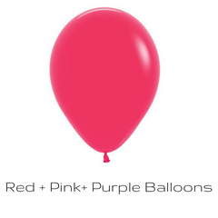 Red, Pink, Purple Balloons