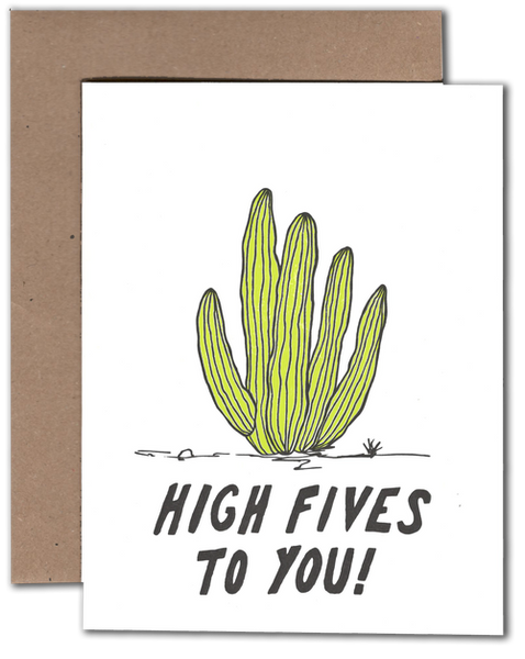 Cactus High Five  greeting card