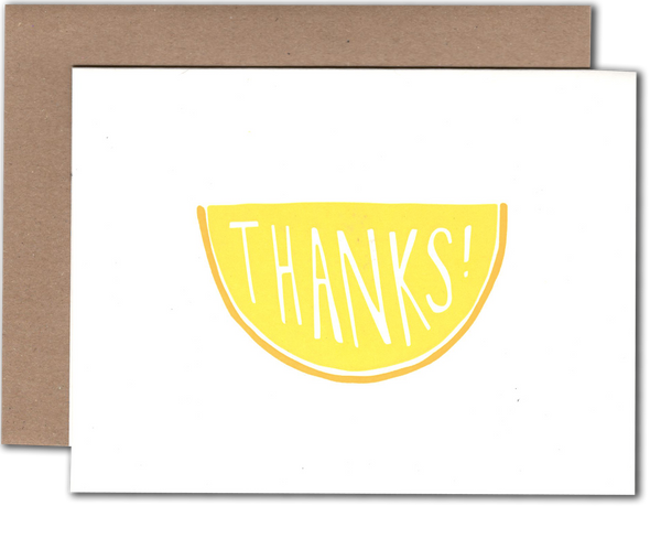 Thanks Lemon  greeting card