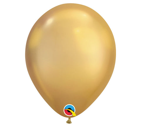 "11"" Chrome Gold Balloon"