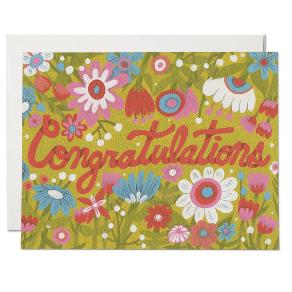 Wildflower Congrats Greeting Card