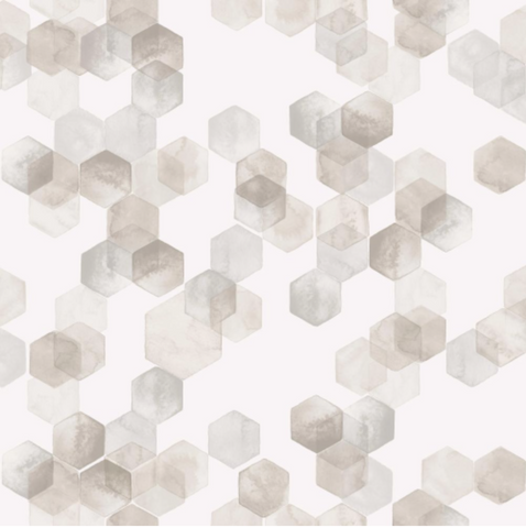 Hexagonal Watercolors Wallpaper