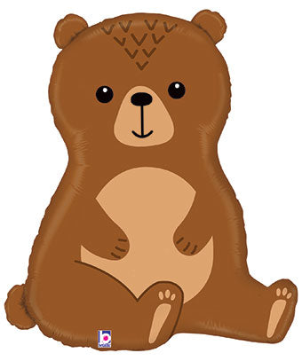 "34"" Cuddly Brown Bear Foil Balloon"