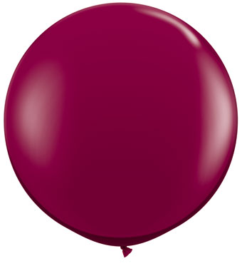 3' Sparkling Burgundy  Balloon