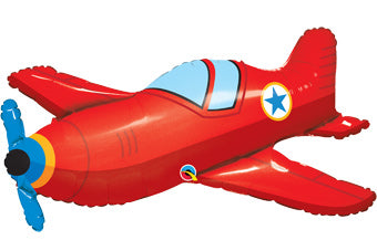 "36"" 'Vintage' Style Red Airplane Balloon"