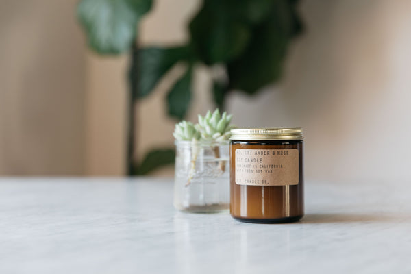 Amber & Moss Soy Candle from P.F. Candle Co.