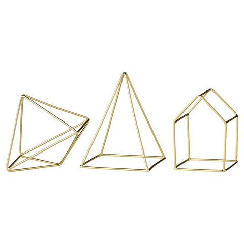 Brass & Iron Decorative Geometric Shapes