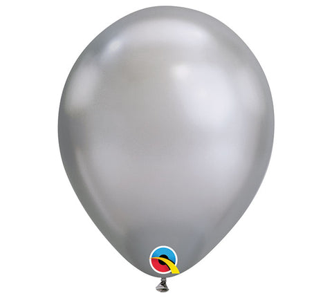 "11"" Chrome Silver Balloon"