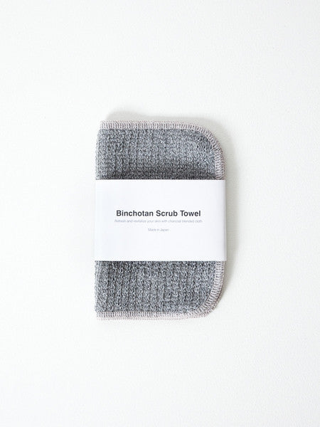 Binchotan Charcoal Face Scrub Towel Body Japanese Cotton