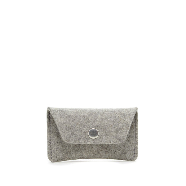 Merino Wool Felt Card Case Grey Graf Lantz