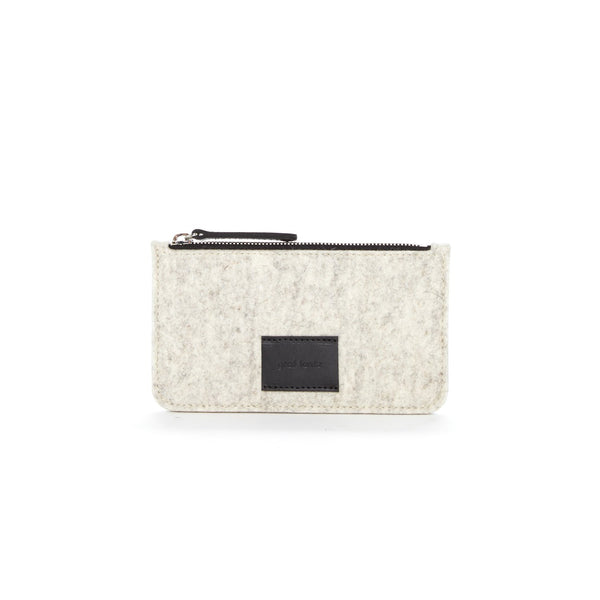 Merino Wool Felt Pouch Heather Grey Graf Lantz