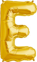 Letter 'E' Gold Foil Balloon