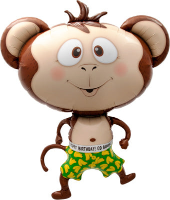 "41"" Monkey in Shorts Balloon"