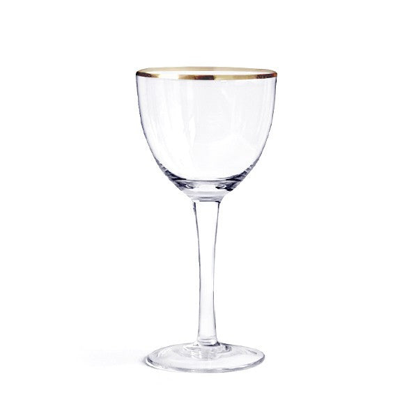 Gold Rimmed Glass Cocktail Party