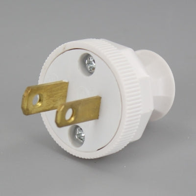 Polarized Lamp Plug with Screw Terminal Connection
