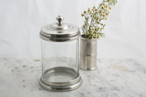 Match Pewter Glass Lidded Cannister