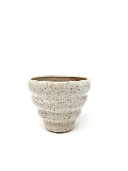 Ridged Planter in White