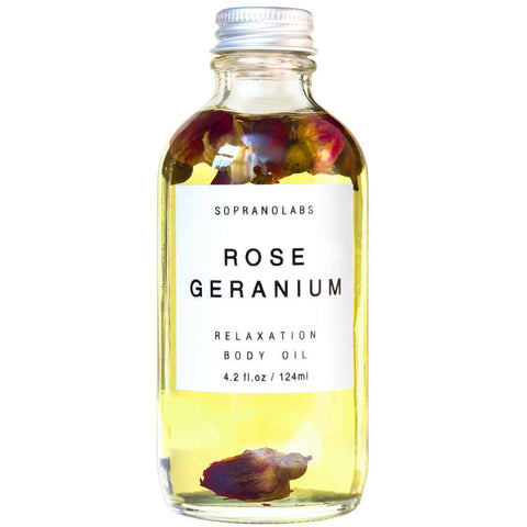 Soprano Labs Rose Geranium Relaxation Body Oil