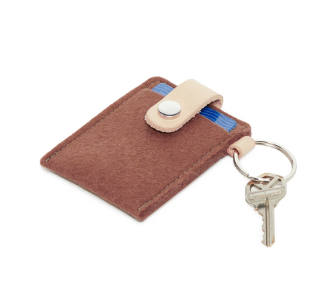 Graf Lantz Key Card Case in Terracotta