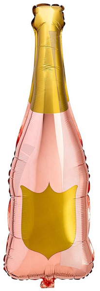 Rose Gold Champagne Bottle Mylar Balloon