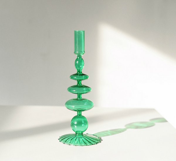 Borosilicate Glass Candle Holders - Genie Bottle (more colors)