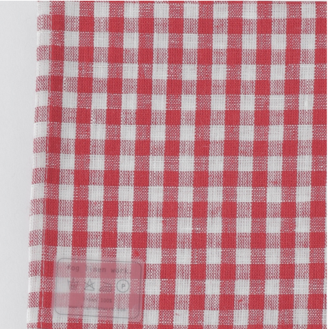 Fog Linen Kitchen Cloth Natural Red White Check